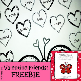 Speechie Freebies – Valentine Friends