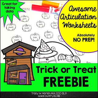 Speechie Freebies October 2016