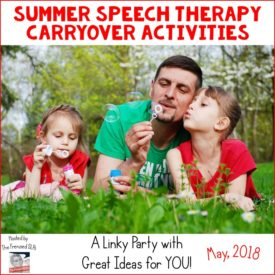 Summer Speech Therapy Ideas
